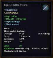 Equite Battle Sword