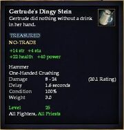 Gertrude's Dingy Stein