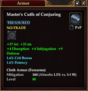 Master's Cuffs of Conjuring