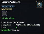 Vicar's Pauldrons