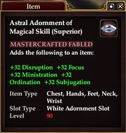 Astral Adornment of Magical Skill (Superior)