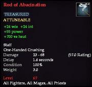 Rod of Abacination