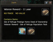 Veteran Reward - 11 year