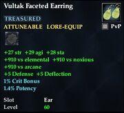 Vultak Faceted Earring