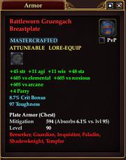 Battleworn Gruengach Breastplate