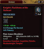 Knight's Pauldrons of the Stalwart