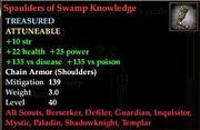 Spaulders of Swamp Knowledge