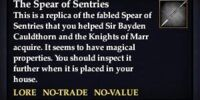 The Spear of Sentries