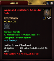 Woodland Protector's Shoulder Pads