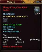 Bloody Claw of the Spirit Sucker