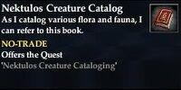 Nektulos Creature Catalog