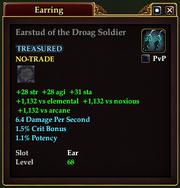 Earstud of the Droag Soldier