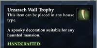 Urzarach Wall Trophy