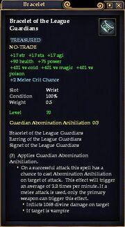 Bracelet of the League Guardians