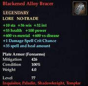 Blackened Alloy Bracer
