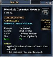 Worm moors