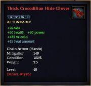 Thick Crocodilian Hide Gloves