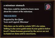 A minotaur stomach