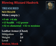 Blowing Blizzard Hauberk