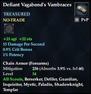 Defiant Vagabond's Vambraces