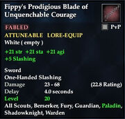 Fippy's Prodigious Blade of Unquenchable Courage