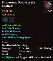 Shadowtrap Scythe of the Mistress