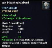 Sun bleached tabbard