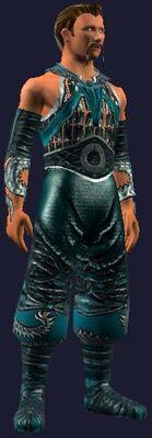 Teal dragon gi (Visible, Male)
