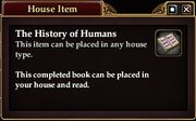 The History of Humans (House Item)