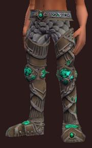 Vesspyr Warrior's Simple Steel Greaves (Equipped)
