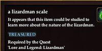 A lizardman scale