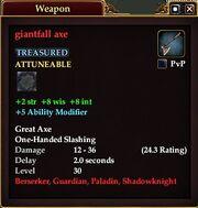 Giantfall axe