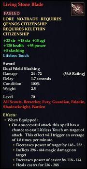 Living Stone Blade