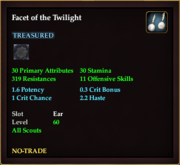 Facet of the Twilight