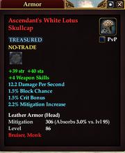 Ascendant's White Lotus Skullcap