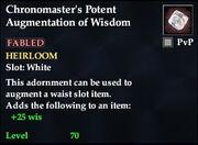 Chronomaster's Potent Augmentation of Wisdom