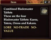 Combined Blademaster Tablets