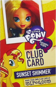 Sunset Shimmer Equestria Girls Club card