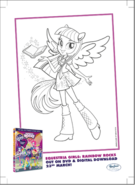 Twilight Sparkle Rainbow Rocks coloring page