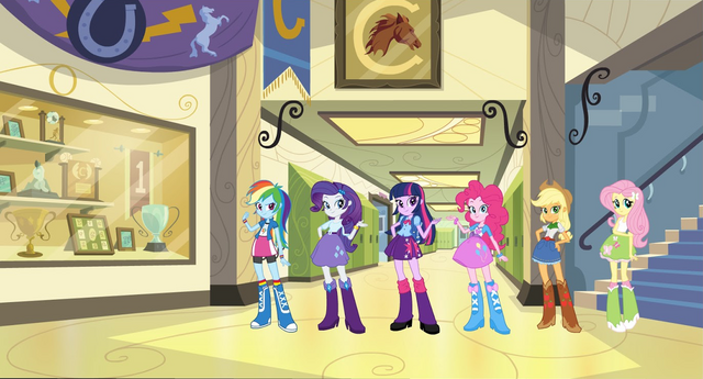 File:Equestria Girls - Main ponies designs.png