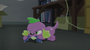 Spike chews on a chew toy EG3