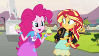 Pinkie Pie asking about a cake monster EG3