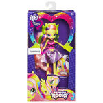 Rainbow Rocks Fluttershy neon doll packaging
