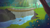 Legend of Everfree background asset - river bridge