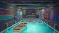 Legend of Everfree background asset - canoe rental
