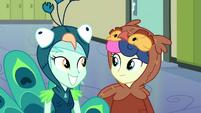 Lyra and Sweetie Drops smiling again EG3