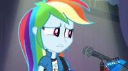 Rainbow Dash starting to sweat EG2