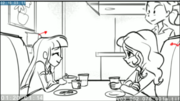 EG3 animatic - Waitress approaching the table