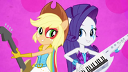 Applejack and Rarity back to back EG2