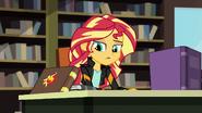 Sunset Shimmer looks at her journal EG3